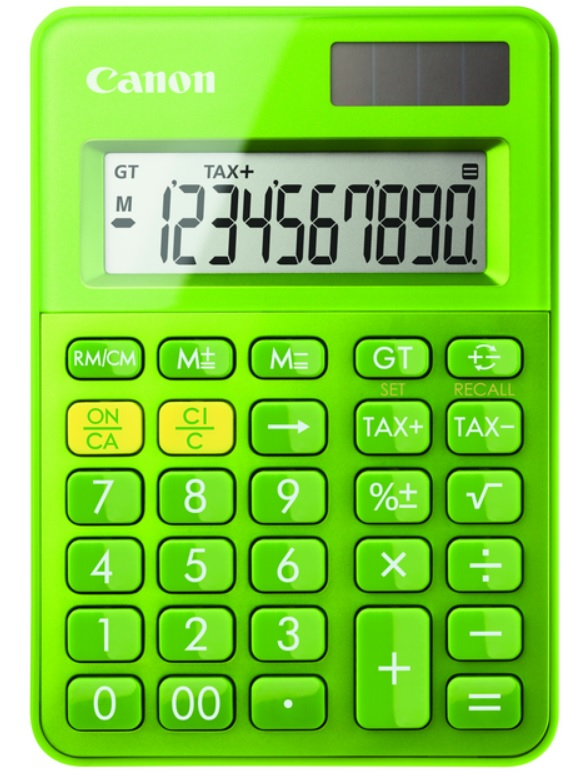 Canon LS-100K calculator Desktop Basic Green