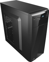 Aerocool CS-1101 Midi-Tower Black computer case