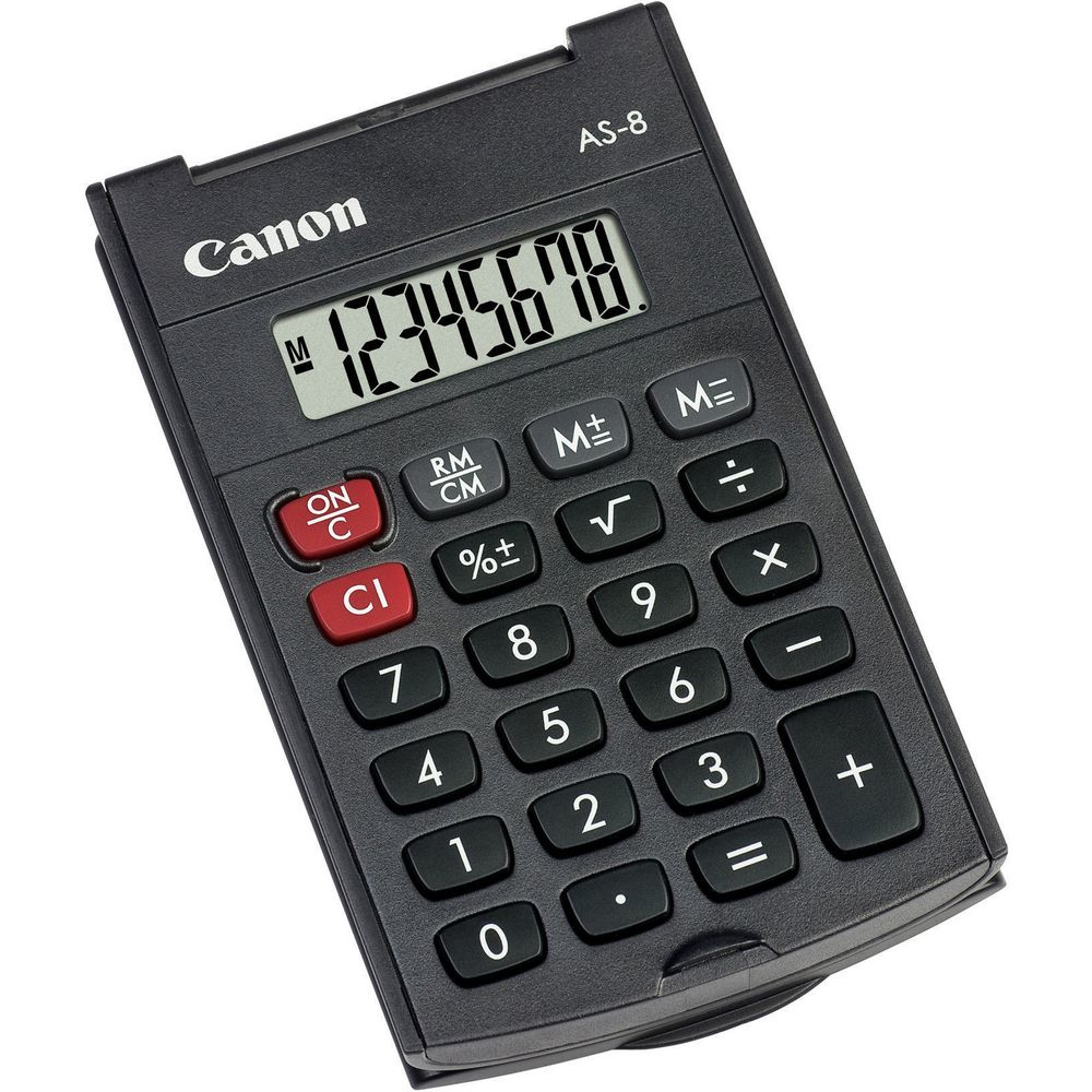 Canon AS-8 calculator Pocket Display Gray