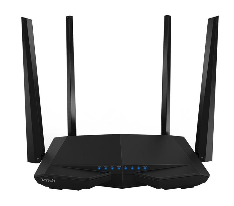 Tenda AC6 Dual-band (2.4 GHz / 5 GHz) Fast Ethernet Black wireless router