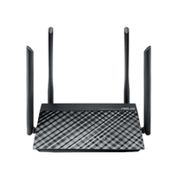 ASUS RT-AC1200G+ wired router Gigabit Ethernet Black
